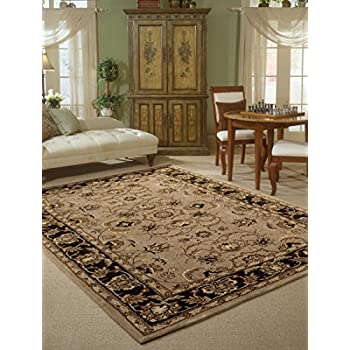 Nourison India House IH71 Taupe Rectangle Area Rug 8 Feet By 10