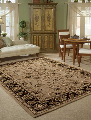 Nourison India House (IH71) Taupe Rectangle Area Rug, 5-Feet by 8-Feet  (5' x (Asian Wool Rug)