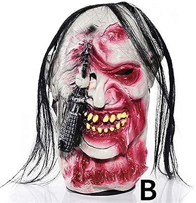 WSJDE Máscara de Halloween Barbillas Divertidas Horror de ...