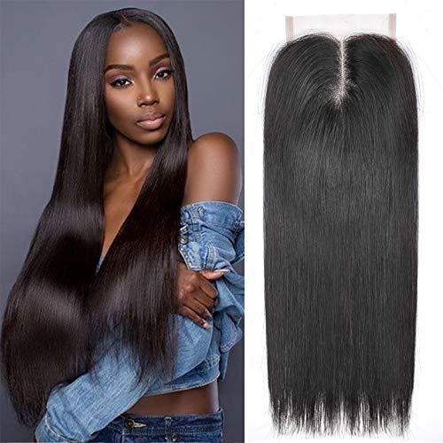 Ayana Brazilian Virgin Hair Straight Middle Part 3.5X4 Lace Closure 100% Unprocessed Human Hair Lace Closure Double Lace Net Closure (8