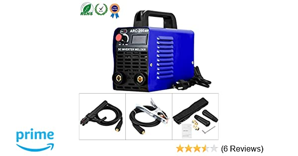 Welding Machine ARC 200 IGBT Inverter Welder, AC DC 110V 200 AMP Mini Welders With LCD Display Suit 2.5 - 3.2 MM Welding Rod Equipment with Accessories ...