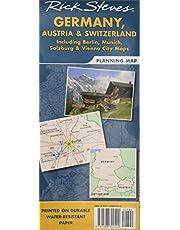 Rick Steves Germany, Austria & Switzerland Planning Map: Including Berlin, Munich, Salzburg & Vienna City Maps