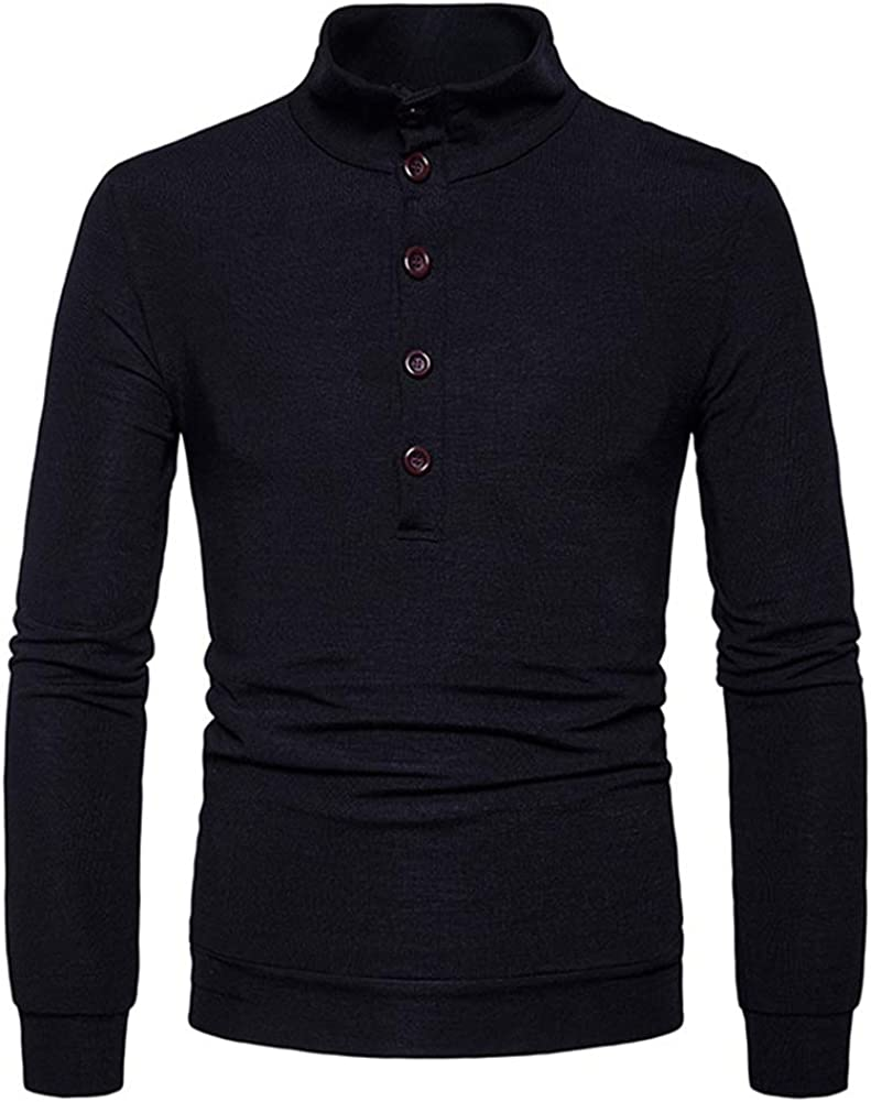 West Sweety Mens Slim Fit Knitted Turtleneck Pullover Sweaters