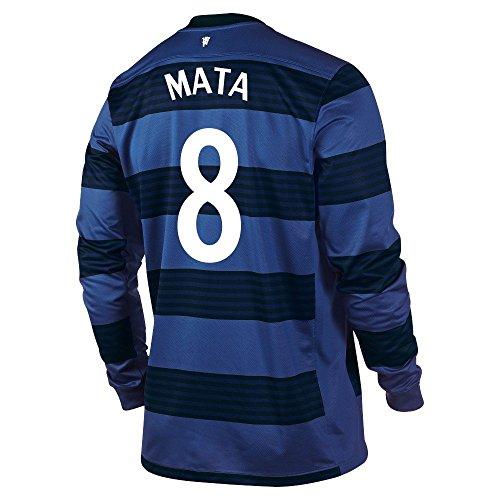 確率痴漢ベイビーNIKE MATA #8 Manchester United Away Soccer Jersey (Long Sleeve)/サッカーユニフォーム マンチェスター?ユナイテッドFC アウェイ用 長袖 背番号8 マタ