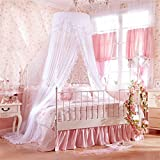 Royal- European Style Dome Mosquito Net Encryption Thickening Home Princess Style Stainless Steel Bracket White