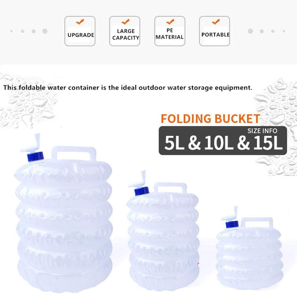 10L 3L retractable water container Foldable bucket Portable mobile//emergency storage tank with tap barbecue party 5L 4 gallon//15L water container for hiking water bag suitable for camping