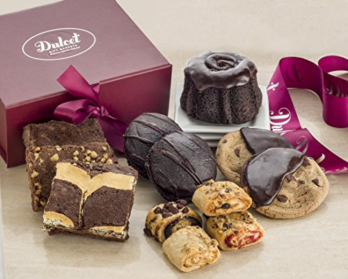 Dulcet New Years Eve Party Supplies Celebration Gift Box – Includes an Assortment of Individually Wrapped Pastries in an Elegant Gift Box. Excellent Gift Choice for All Occasions.