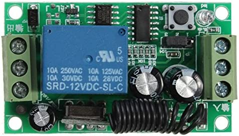 DC 12V 10A Relay 1 Canal de Canal inal/ámbrico RF Interruptor de Control Remoto transmisor con el Receptor Ils