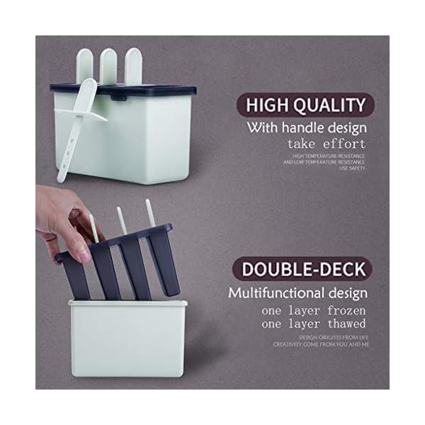 Rolin Roly Set di 2 Stampi per Gelato Durevole Stampi per ghiaccioli Riutilizzabile Gelati Crema Stampo Design a Doppio… 4 spesavip