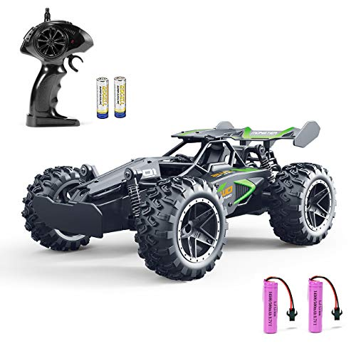Remote Control Car RC Cars - FREE TO FLY 2019 Updated 1/18 Scale High Speed RC Car, 2.4Ghz Race RC Trucks with Two Rechargeable Batteries, Remote Control Car Toys for Kids & Adults (Best Remote Control Car 5 Year Old)
