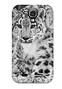 Hot Tpu Cover Case For Galaxy/ S4 Case Cover Skin - The Snow Leopard BY icecream design