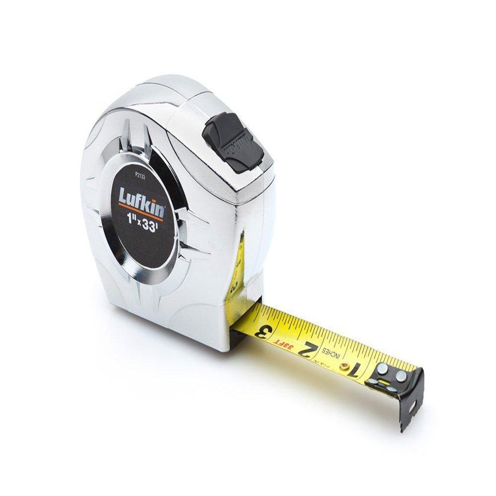 Lufkin P2223CME 1/2-Inch by 10-Feet Power Return Tape, Chrome