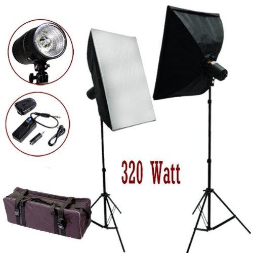 StudioFX 320 Watt Photo Studio MonoLight Strobe Flash Softbox Lighting Umbrella Kit
