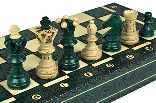 Green Royal Wooden Chess Board Wood 21 X 21 Inchess