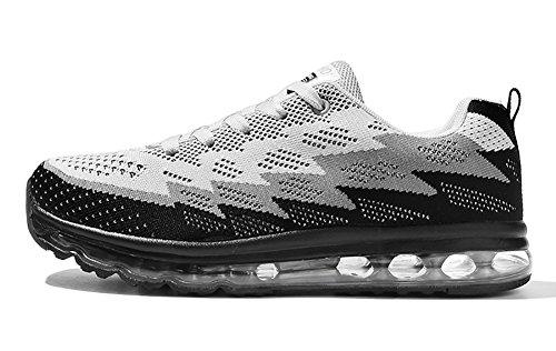 Full No Grey Cushion Sole Running Black 66 Women's Air Town Flyknit Shoes Sneakers Couple Men's TrnIra6