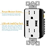 TOPGREENER 3.1A USB Wall Outlet Charger, 15A