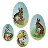 Set of Handmade Easter Egg Gift Boxes - Includes 4 Paper Mache Eggs - Easter Decor - Gifts for Easter