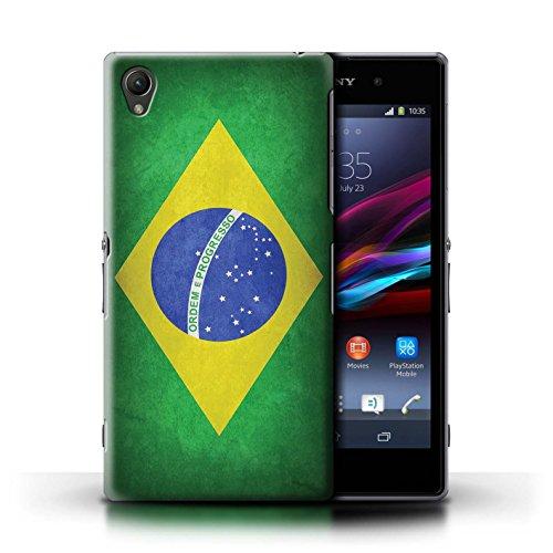 Kobalt® Imprimé Etui / Coque pour Sony Xperia Z1 / Brésil/brésilien conception / Série Drapeau