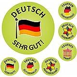 175 German Well Done Reward Stickers