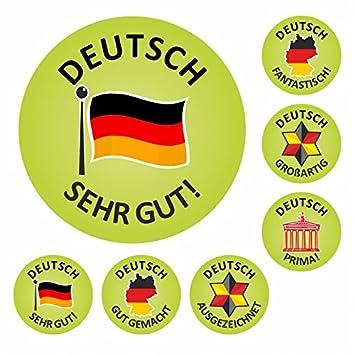Amazon.com: 175 alemán Well Done pegatinas de recompensa ...