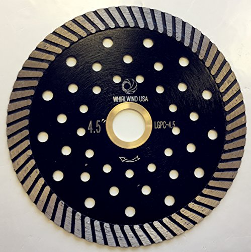 - Whirlwind USA LGPC 4.5 in. Stone Cutting Premium Turbo Continuous Rim Diamond Blades for granite (Factory Direct Sale) (4.5
