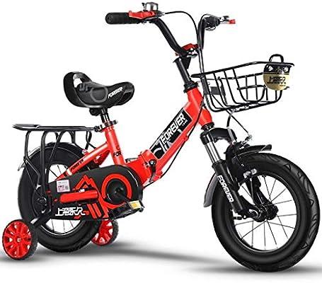 AJZGF Bicicletas niños Bicicleta Infantil Plegable Cochecito de ...