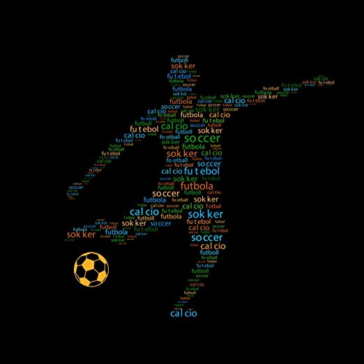 YUSDK Copa Mundial de fútbol balón de fútbol 3D Etiqueta de la ...