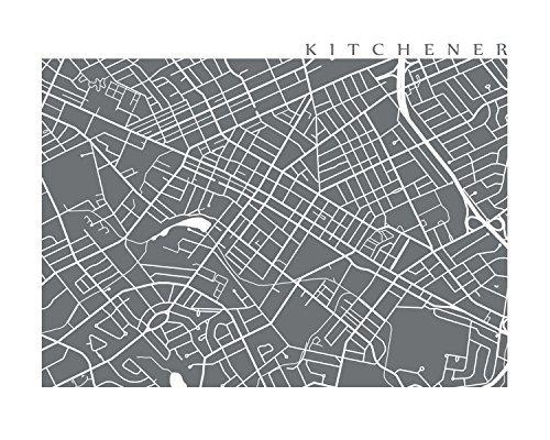 Map Of Canada Kitchener.Amazon Com Kitchener Map Print Handmade