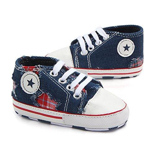 Save Beautiful Toddler Baby Girls Boys Shoes Infant First Walkers Sneakers (0-6months, B-deep Blue)
