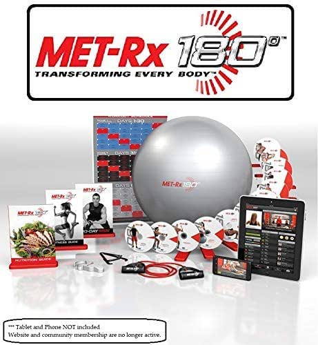 Met-Rx® 180 Workout Fitness Exercise Ball Program Complete Kit - Transforming Every Body