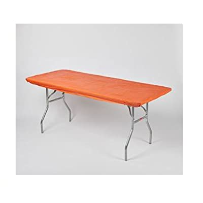 "Kwik Covers 30"" x 72"" Orange Fitted Table Cover - Single: Industrial & Scientific"
