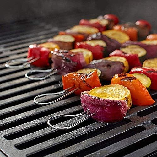Yagoal Brochettes Barbecue INOX Pic a Brochette Brochettes pour Griller en Plein air Barbecue Brochettes Kebab Bâtons Brochettes en Acier Inoxydable
