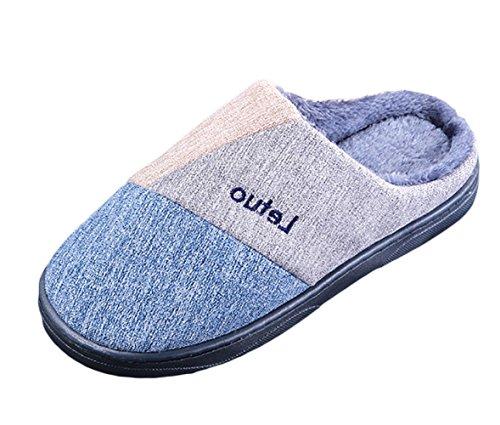 Doux Pantoufles Maison Unisexe Chaud Studio Intérieur SK Tricot Slippers Bleu Hiver Chaussons Chaussures ngfXIaq
