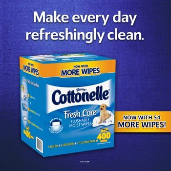 CottonelleR Fresh CareTM Flushable Moist Wipes, 400 Wipes by Cottonelle [並行輸入品] B01AL01PES, ウツノミヤシ 6a8fa156