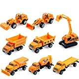 SDBING New 1/64 Children Alloy Construction Vehicles Toy Car Model, 8-in-one