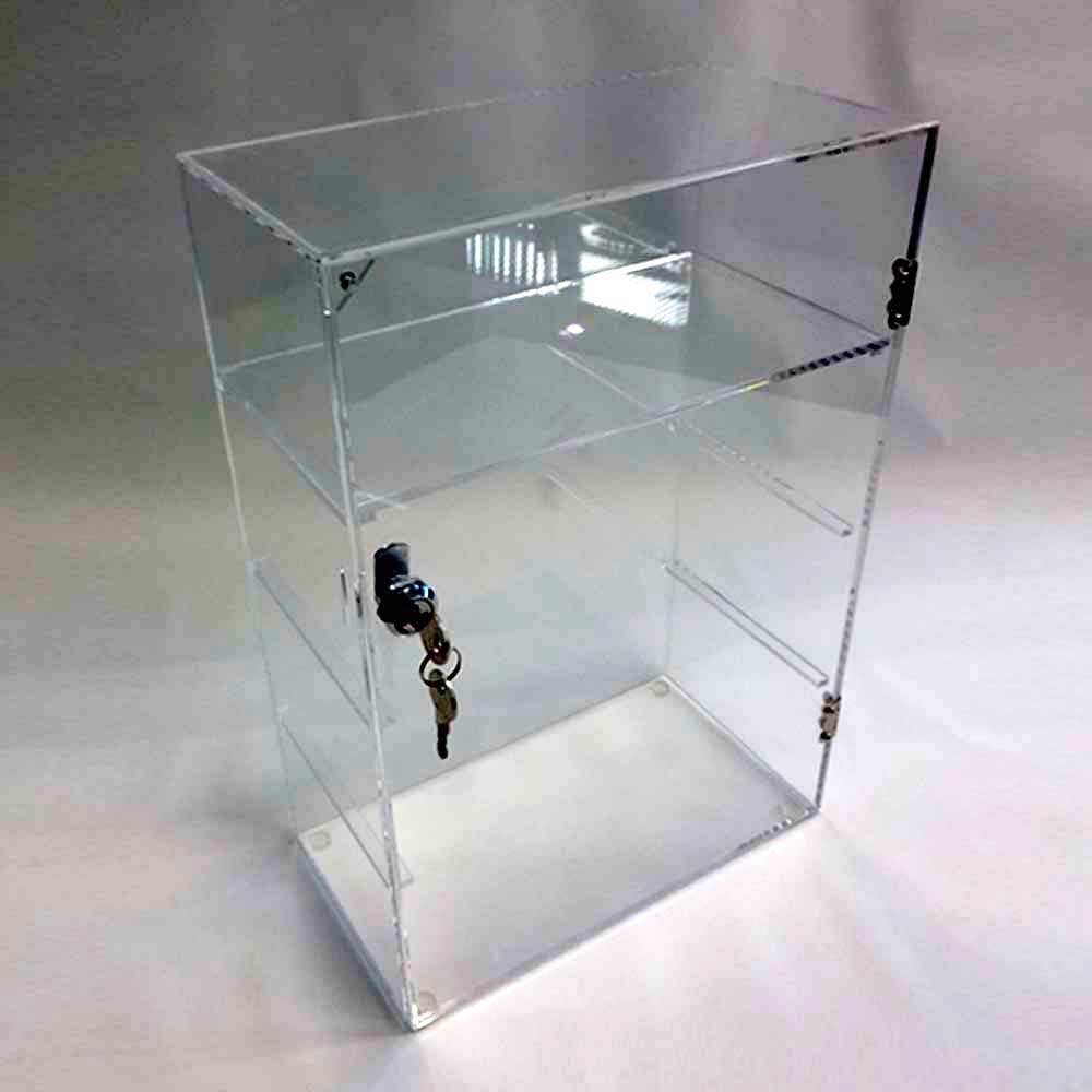 Acrylic Lucite Countertop Display Case Showcase Box Cabinet 12'' X 6'' X 16'' by Marketing Holders (Image #5)