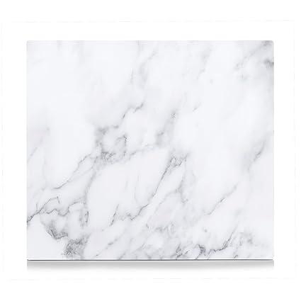 Zeller 26313 Copri piano cottura conMarmo, Vetro, Bianco, 56 x 50 x ...