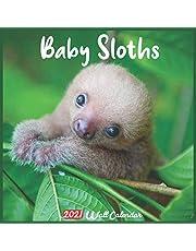Baby Sloths 2021 Wall Calendar: Official Baby Sloths Calendar 2021, 18 Months