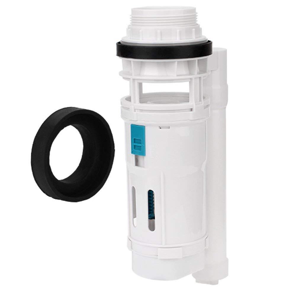 Doublelife White 21cm Height Water Tank Split Dual Flush Fill Toilet Cistern Inlet Drain Valve Repair