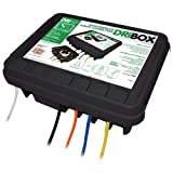 Dribox Weatherproof Connection Box for Cables with IP55 Rating (Black, Large)