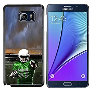 Qstar Arte & diseño plástico duro Fundas Cover Cubre Hard Case Cover para Samsung Galaxy Note 5 5th N9200 (31 de fútbol)