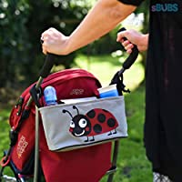 Stroller Organizer Baby Diaper Bag with Mobile Phone Holder – Universal Fit F...