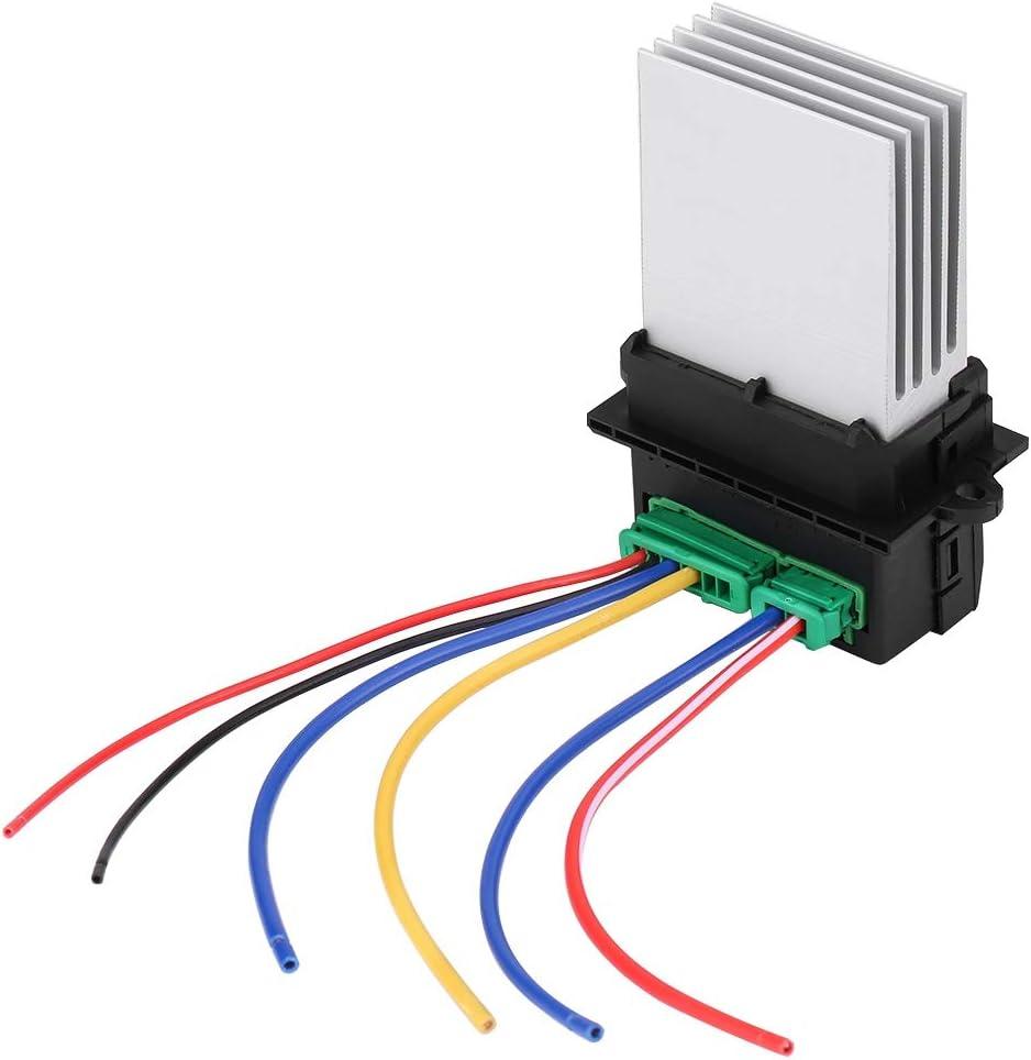 Ventiladores de las resistencias del motor Qiilu Calentador Motor Resistencia del soplador Aire acondicionado Ventilador 6441L2 7701048390 7701207718 para C5 / C3 / C2 207/406/607/1007