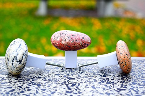 Stone knobs and pulls. Beach Stone Kitchen Cabinet pull knob. Door handle. Stone Cabinet Knobs. Furniture knobs. Drawer Pull.