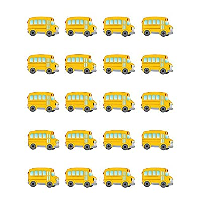Teacher Created Resources School Bus Stickers (5651): Office Products