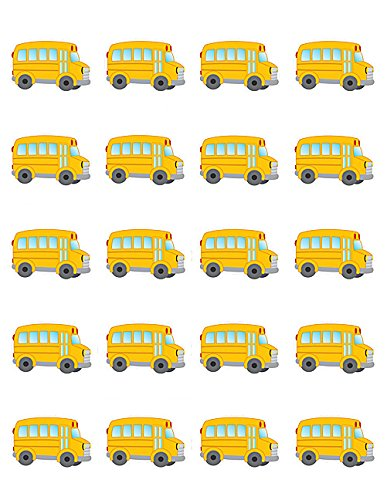 School Play Sticker (Teacher Created Resources School Bus Stickers (5651))