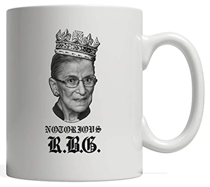 122af6da984 Funny Ruth Bader Ginsburg Mug - NOTORIOUS RBG with a Crown on Her Head in  Hip