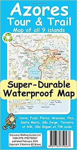 Azores Tour Trail Super Durable Map Jan Kostura David Brawn 9781782750567 Amazon Com Books