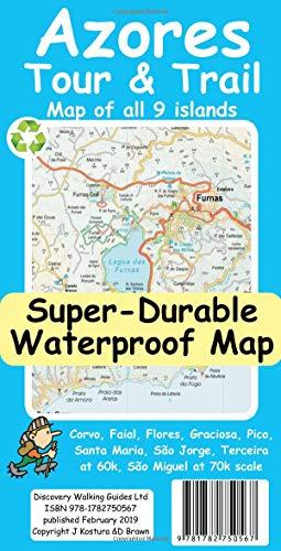 Azores Tour & Trail Super-Durable Map...
