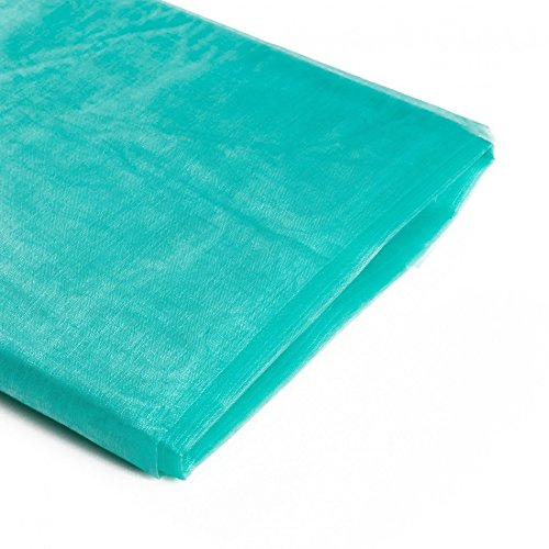Koyal Wholesale 10-Yard Sheer Organza Fabric Bolt, 58-Inch, Diamond Blue ()